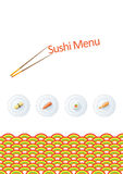 Modelo del menú del sushi Fotos de archivo libres de regalías