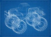 Modelo del monster truck 3D - Imágenes de archivo libres de regalías