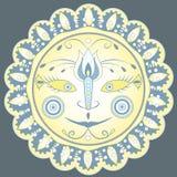 Modelo del ornamental de Sun Imagenes de archivo