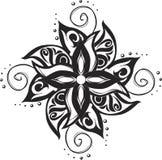 Modelo del ornamental del tatuaje Stock de ilustración