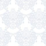 Modelo del ornamento de la flor del remolino del damasco del vintage del vector Fotografía de archivo
