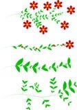 Modelo del ornamento floral con las hojas y los flores Fotografía de archivo libre de regalías