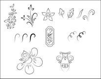Modelo del ornamento floral del vector Imagen de archivo