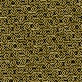 Modelo del modelo del oro con un fondo negro como fondo abstracto ilustración del vector