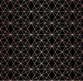 Modelo del oro de Rose Líneas geométricas textura inconsútil del vector Rosa y rejilla negra libre illustration