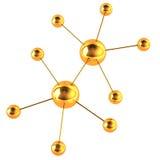 Modelo del oro de una molécula Imagen de archivo