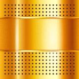 Modelo del oro, fondo metálico Imagenes de archivo