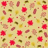Modelo del otoño con las hojas, las bayas y las ramas libre illustration