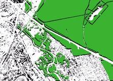 Modelo del paisaje en vector Foto de archivo libre de regalías