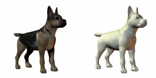 Modelo del perro de pastor 3d stock de ilustración