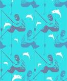 Modelo del pescador inconsútil Fondo de la pesca Caña de pescar VE libre illustration