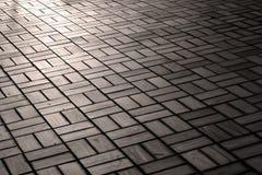 Modelo del piso del ladrillo con luz del sol Imagen de archivo libre de regalías