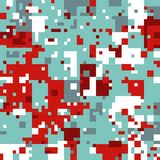Modelo del pixel de la Navidad Fotografía de archivo