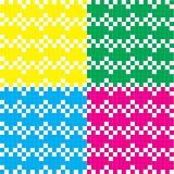 Modelo del pixel del corazón colorido Foto de archivo