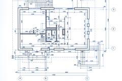 Modelo del plan de la casa Parte del proyecto arquitectónico d técnica ilustración del vector