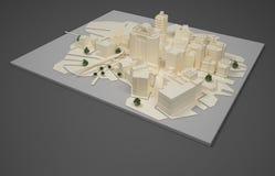 Modelo del plan del arquitecto Fotos de archivo
