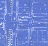 Modelo del plan del tráfico Foto de archivo libre de regalías