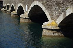 Modelo del puente Imagen de archivo