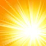 Modelo del resplandor solar de Sun. Ejemplo del vector Imágenes de archivo libres de regalías