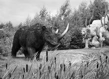 Modelo del rinoceronte lanoso antiguo imagenes de archivo