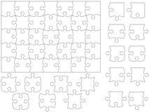 Modelo del rompecabezas de rompecabezas Imagen de archivo libre de regalías
