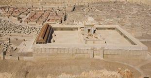 Modelo del segundo templo en el museo de Israel Foto de archivo libre de regalías