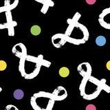 Modelo del signo '&' hecho de los símbolos que dibujan en fondo del papel Modelo incons?til abstracto stock de ilustración