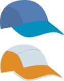 Modelo del sombrero y del casquillo Foto de archivo libre de regalías