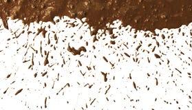 Modelo del splat del fango fotografía de archivo libre de regalías