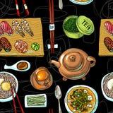 Modelo del sushi Fotografía de archivo