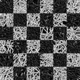 Modelo del tablero de ajedrez hecho de agujas Foto de archivo libre de regalías