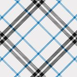 Modelo del tartán en azul, blanco y negro Textura para la tela escocesa, manteles, ropa, camisas, vestidos, papel, lecho, mantas, stock de ilustración