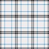 Modelo del tartán en azul, blanco y negro Textura para la tela escocesa, manteles, ropa, camisas, vestidos, papel, lecho, mantas, libre illustration