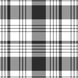 Modelo del tartán en blanco y negro Textura para la tela escocesa, manteles, ropa, camisas, vestidos, papel, lecho, mantas, edred libre illustration