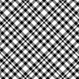Modelo del tartán en blanco y negro Textura para la tela escocesa, manteles, ropa, camisas, vestidos, papel, lecho, mantas, edred stock de ilustración