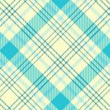 Modelo del tartán en ciánico y blanco Textura para la tela escocesa, manteles, ropa, camisas, vestidos, papel, lecho, mantas, edr ilustración del vector