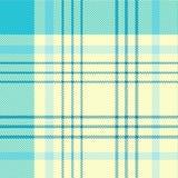 Modelo del tartán en ciánico y blanco Textura para la tela escocesa, manteles, ropa, camisas, vestidos, papel, lecho, mantas, edr stock de ilustración