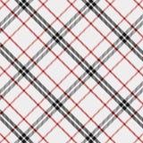 Modelo del tartán en rojo, blanco y negro Textura para la tela escocesa, manteles, ropa, camisas, vestidos, papel, lecho, mantas, stock de ilustración