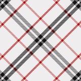 Modelo del tartán en rojo, blanco y negro Textura para la tela escocesa, manteles, ropa, camisas, vestidos, papel, lecho, mantas, libre illustration