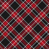 Modelo del tartán, rojo y negro de la tela escocesa inconsútil Textura para la tela escocesa, manteles, ropa, camisas, vestidos,  stock de ilustración