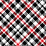 Modelo del tartán, rojo y negro de la tela escocesa inconsútil Textura para la tela escocesa, manteles, ropa, camisas, vestidos,  ilustración del vector