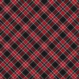 Modelo del tartán, rojo y negro de la tela escocesa Textura para la tela escocesa, manteles, ropa, camisas, vestidos, papel, lech ilustración del vector