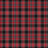 Modelo del tartán, rojo y negro de la tela escocesa Textura para la tela escocesa, manteles, ropa, camisas, vestidos, papel, lech libre illustration
