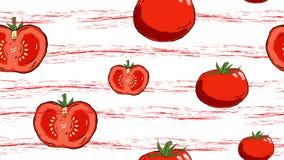 Modelo del tomate con las rayas del grung para las tarjetas, carteles, backgounds, papel de embalaje imagenes de archivo