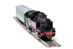 Modelo del tren del vapor del juguete fotos de archivo
