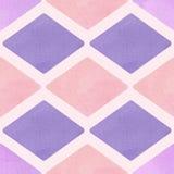 Modelo del vector con el Rhombus púrpura Fotos de archivo