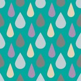 Modelo del vector con gotas de lluvia Fondo lindo inconsútil Extracto stock de ilustración