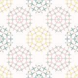 Modelo del vector de Daisy Summer Garden Wheel Seamless Floral geom?trico exhausto de la mano stock de ilustración