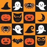 Modelo del vector de Halloween Fotos de archivo