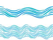 Modelo del vector de ondas de agua u ornamento inconsútil del tatuaje libre illustration